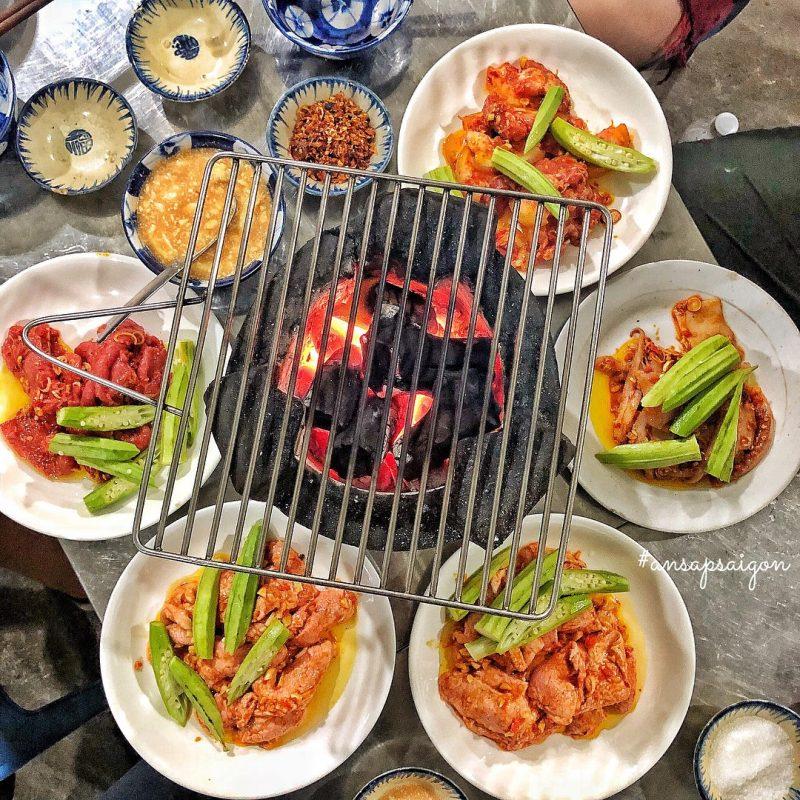 quán nướng Sài Gòn