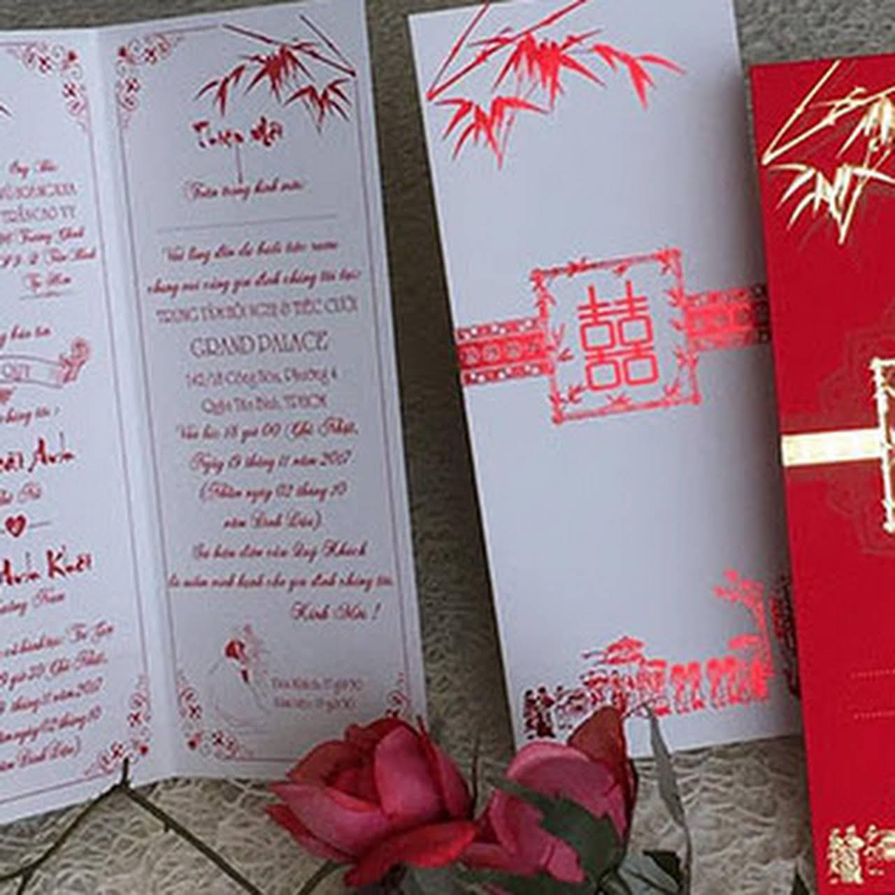 in thiệp cưới Sài Gòn